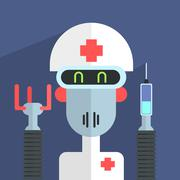 Medic Robot Character Stock Illustration