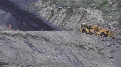 Gathering coal, UTAH, COAL COUNTRY Stock Footage