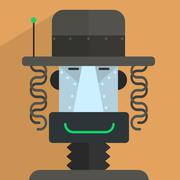 Jewish Robot Character - stock illustration