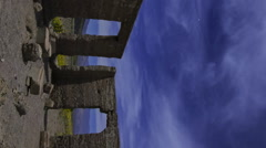 Astro Time Lapse of Ashford Mill Ruin in Moonlight in Death Valley -Vertical- Stock Footage