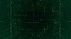 digital technology numbers backgorund LOOP green - stock footage
