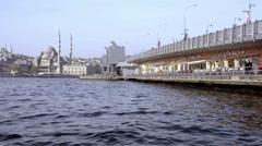 Galata bridge - stock footage