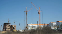 Construction of a residential apartment complex Stock Footage