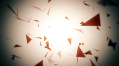 Abstract geometric composition from chaotic slow moving dots and lines 4K Stock Footage