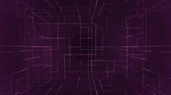 Digital technology numbers backgorund LOOP purple Stock Footage