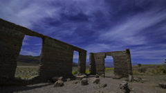 Astro Time Lapse of Ashford Mill Ruin in Moonlight in Death Valley  Stock Footage