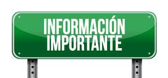 important information road Spanish sign - stock illustration