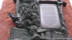 Memorial to dead miners, UTAH, COAL COUNTRY Stock Footage