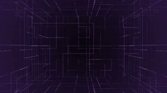 Digital technology numbers backgorund LOOP violet Stock Footage