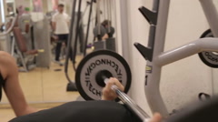 Beautiful young female strength trainer - stock footage