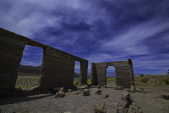 5K Astro Time Lapse of Ashford Mill Ruin in Moonlight in Death Valley  Stock Footage
