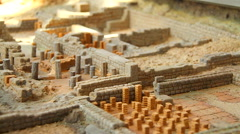 Model of a old romanic city. Stock Footage