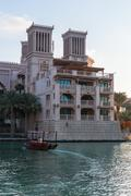 View of Madinat Jumeirah hotel in Dubai Stock Photos