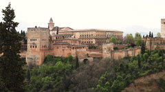 Alhambra Royal Palace Stock Footage