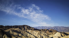 Time Lapse of Desert Landscape at Zabriskie Point in Death Valley -Tilt Down- Stock Footage