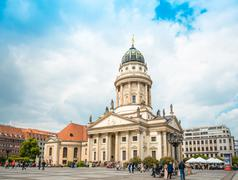 BERLIN, GERMANY- May 18, 2016: The Gendarmenmarkt is a square in Berlin, and  - stock photo