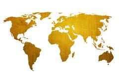 world map vintage artwork - stock illustration