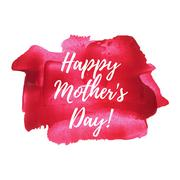 Happy mother's day sweet red pink paint background, greeting card, postcard,  - stock illustration