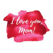 Happy mother's day sweet red pink paint background, greeting card, postcard,  Stock Illustration