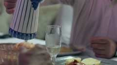 Traditional Portuguese food and wine. - stock footage