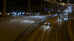 Night traffic on the street - stock footage