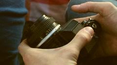 Film camera Stock Footage