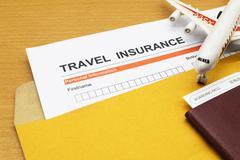 Travel insurance application form Stock Photos