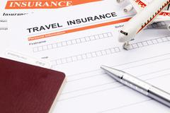 Travel insurance application form Stock Photos
