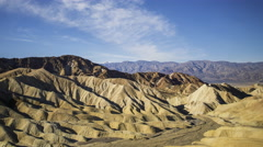 Time Lapse of Desert Landscape at Zabriskie Point in Death Valley -Pan Left- Stock Footage