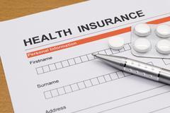 Health insurance application form Stock Photos