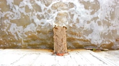 Waste pipe, drainage polluting environment, the drain carries sewage Stock Footage