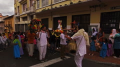 A Hindu Parade in Quito Stock Footage