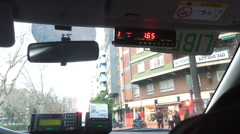 Taxi ride in Valencia Spain - stock footage