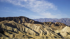 Time Lapse of Desert Landscape at Zabriskie Point in Death Valley -Zoom Out- Stock Footage