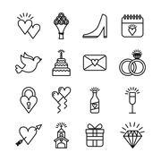 wedding invitation design - stock illustration