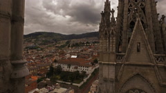 Panning view from one of the Basilica steeples Stock Footage