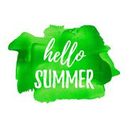 Hello Summer. Summer Season. Summer Wallpaper. Summer Time. Happy Summer. Sum - stock illustration