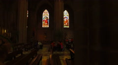 Inside the Basilica of the National Vow Stock Footage