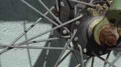Rusty Bike Wheel Hub Stock Footage