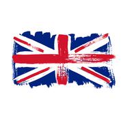 Flag of Great Britain on a white background Stock Illustration
