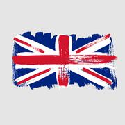 Flag of Great Britain on a gray background Stock Illustration