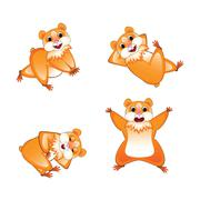 Favorite hamster set Stock Illustration
