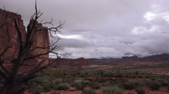 ARCHES NATIONAL PARK, Storm rolling in Stock Footage