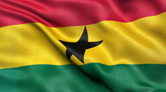 4K Ghana flag seamless loop Stock Footage