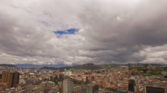 View of Quito (overcast) Stock Footage