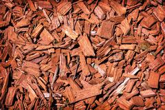 Natural background of red mulch - stock photo