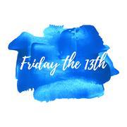 Friday the 13th, Friday the Thirteenth vector card, poster, logo, illustratio Stock Illustration