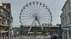 Big Ferris Wheel Turning Stock Footage
