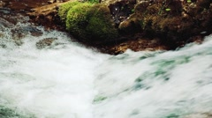 Mountain stream in Ukraine ,mountain - stock footage