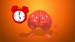 Computer animation - Fun brain Stock Footage